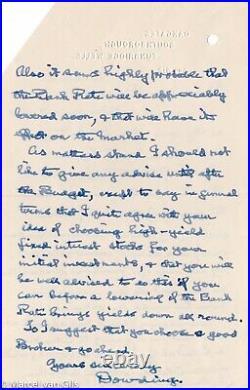 Hugh Dowding original hand written letter