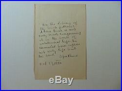 Humorist Opie Read Hand Written Letter dated 1938 JG Autographs COA