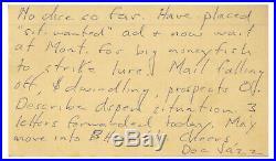 Hunter S. Thompson Handwritten Signed Letter re Aspen autograph Beckett BAS COA