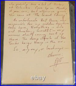 Hunter S. Thompson SIGNED Hand WRITTEN Autographed Letter to Friend a GoNZo 1/1