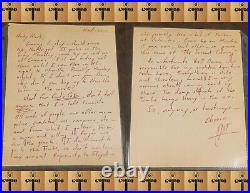 Hunter S. Thompson SIGNED Hand Written Autograph Letter to Friend GREAT CONTENT