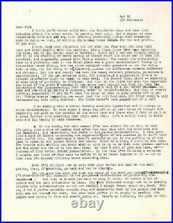 Hunter Thompson 5pp. Letter With Handwritten Edits