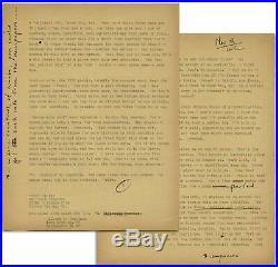 Hunter Thompson Letter w. Handwritten Annotations