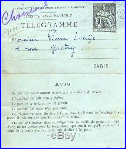 IMPRESSIONIST COMPOSER Claude Debussy autograph, handwritten letter signed & mou