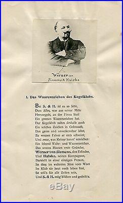 INDUSTRIALIST Wilhelm von Siemens autograph, handwritten letter signed