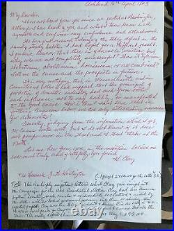Important Handwritten Henry Clay 1844 Letter Re Presidential Campaign Vs. Polk