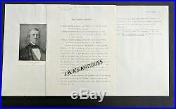 JAMES PINCKNEY HENDERSON Handwritten Autographed Letter1st Govenor of TEXAS