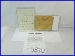 JFK Jack Signed 1939 Autograph Handwritten Letter ALS & Telegram PSA/DNA Kennedy