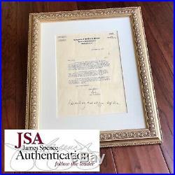 JOHN F. KENNEDY JSA LOA Twice 2x Signed Letter With Handwritten Postscript