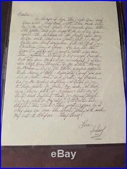 JOHN GOTTI handwritten letter with autograph JSA cert