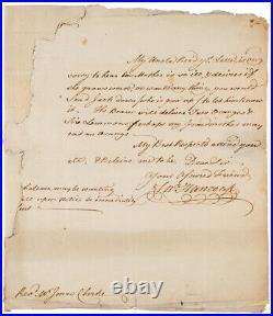 JOHN HANCOCK PSA/DNA Handwritten Autograph Letter Signed SLAVERY Content