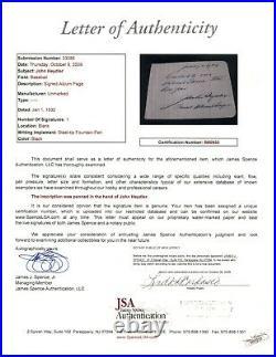 JOHN HEYDLER President NL Baseball Signed Letter Autograph Handwritten JSA LOA