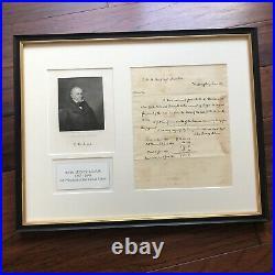 JOHN QUINCY ADAMS PSA/DNA Handwritten Autograph Letter Signed Full Signature