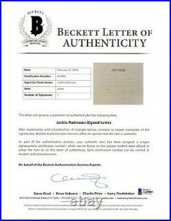 Jackie Robinson 1956 Signed Handwritten Autographed Letter Beckett BAS LOA
