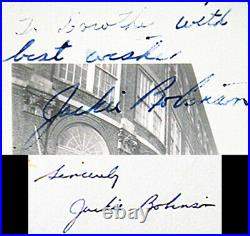 Jackie Robinson Hand Written SIgned Letter & 1 of kind Autographed Photo 1952