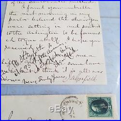 James A Garfield Letter With Envelope Signed 1/8/1877 President Als Hand Written