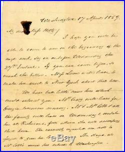 James Buchanan Signed Autographed Handwritten 1859 Letter Beckett BAS