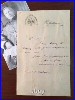 James Cardinal Gibbons Handwritten Letter Signed The Faith Of Our Fathers
