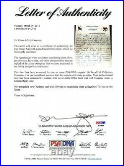 James Naismith 1918 Signed Handwritten 2 Page Letter Psa/dna Certified Autograph
