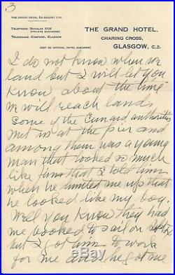 James Naismith 1936 Signed Handwritten 4 Page Letter Psa/dna Certified Autograph