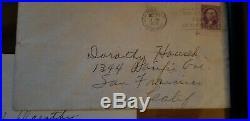 Joan Crawford handwritten letter 1938 framed