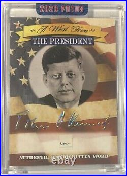 John F Kennedy Handwritten Word From The President Potus Signed Letter Cut Relic