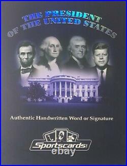 John F Kennedy Jfk Handwritten Word From The President Potus Signed Letter Relic