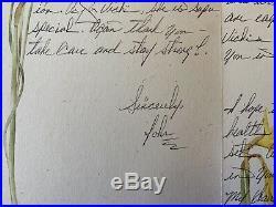 John Gotti Handwritten Signed Letter Autograph Mob Mafia Mobster Gambino