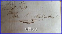 John J. Audubon Signed RARE Complete hand written LETTER May 1818, COA