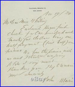 John Marin SIGNED Autographed Handwritten Manuscript MS Letter Modernist Artist