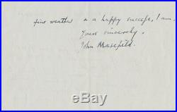 John Masefield Signed Autographed Hand-Written Letter from Burcote Brook