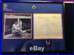John McGraw Signature Hand Written Letter Framed Matted HoF Autograph JSA