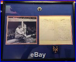 John McGraw Signature Hand Written Letter Matted HoF Autograph JSA No Reserve