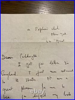 John Noel Autograph Letter Signed Great Handwritten Mount Everest Content