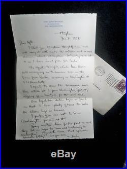 John Q Knowles, MASS 1936 Hand Written Letter/Envelope
