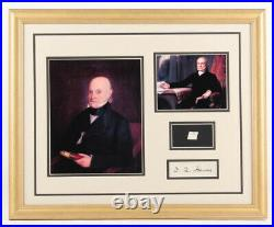 John Quincy Adams Custom Framed Display with Hand Written Word from Letter COA