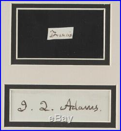 John Quincy Adams Custom Framed Display with Hand Written Word from Letter LOA