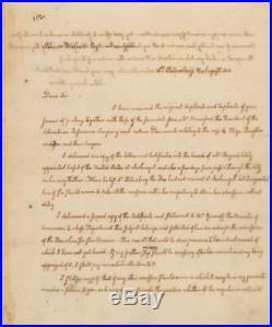 John Quincy Adams Signed Autographed 7x9 Handwritten Letter ALS Beckett BAS
