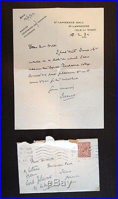 John Rushworth Jellicoe Naval Admiral Wwi Jutland Hand Written Letter