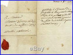 Joseph-Ignace Guillotin autograph, handwritten letter signed & mounted