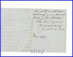Joseph McKenna Handwritten Letter Signed 1905 / Supreme Court Autographed