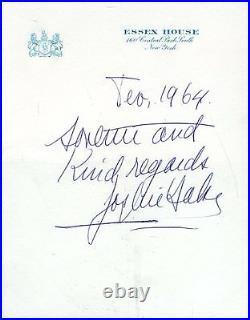 Josephine Baker Signed Jsa Certed Handwritten Letter Autograph