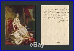 Josephine Bonaparte autograph, handwritten letter signed