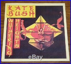 KATE BUSH WUTHERING HEIGHTS DEMO 7 With PIC SLEEVE KATE SIGNED HANDWRITTEN LETTER