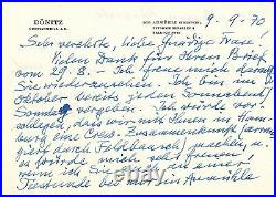 Karl Donitz Handwritten Letter Signed in 1970 with COA
