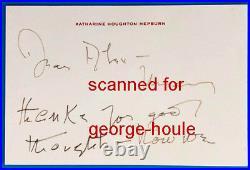 Katharine Hepburn Letter Signed + Envelope Handwritten To Friend