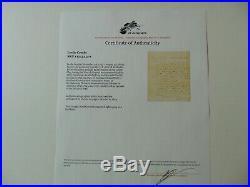 Kentucky Court of Appeals Leslie Combs Hand Written Letter Dated 1824 COA
