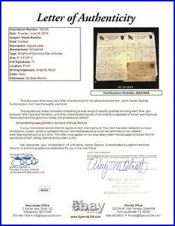 Knute Rockne Signed Handwritten Letter with 2 Autographs JSA LOA Notre Dame Great
