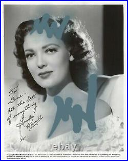 LINDA DARNELL signed. Handwritten Letter & 8x10 Autographed Photograph