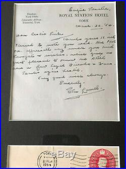 Laurel and Hardy Stan Laurel ULTRA RARE Hand Written Letter Signed UACC